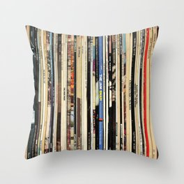 Classic Rock Vinyl Records Throw Pillow
