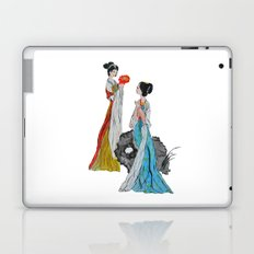 ancient Chinese lady watercolor  Laptop & iPad Skin