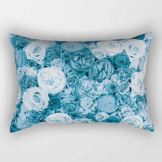 Bouquet ver.bluegreen Rectangular Pillow