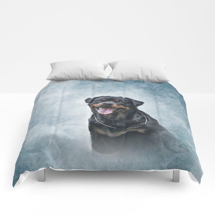 rottweiler dog Comforters