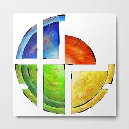Blessinia - colourful sun Metal Print
