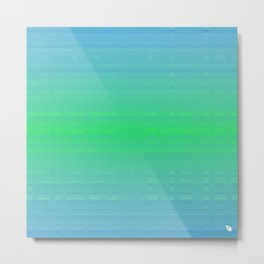 blue green sea  Metal Print