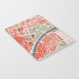 Seville city map classic Notebook
