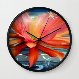 The Water Lily Cactus Wall Clock