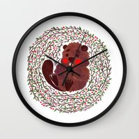 beaver Wall Clocks featuring Baby Beaver by haidishabrina