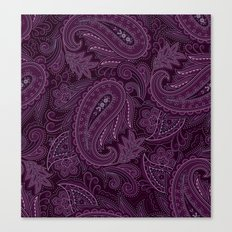 Meredith Paisley - Purple Canvas Print
