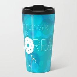 My flower is Lorem Travel Mug