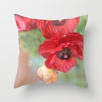 ruby Throw Pillows featuring Ruby by Lisa Argyropoulos