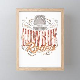 Cowboy Rodeo Framed Mini Art Print