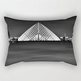 The Lourve at Night Rectangular Pillow