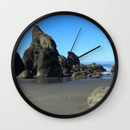 Beauty On Ruby Beach Wall Clock