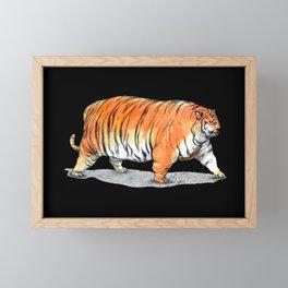 Big tigre in black Framed Mini Art Print