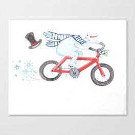 Walden's Red Bike Canvas Print