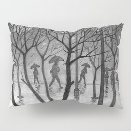 Bus stop in the rain Pillow Sham