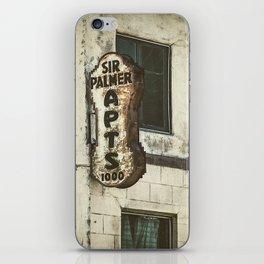Sir Palmer Apts. Vintage Sign, Echo Park iPhone Skin