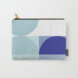 Minimal Bauhaus Semi Circle Geometric Pattern 3 - Blue #buyart #society6 #minimalart Carry-All Pouch