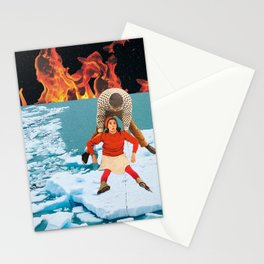 Oopsie! I slipped! Stationery Cards