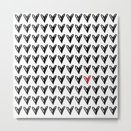 HEARTS ALL OVER PATTERN V Metal Print