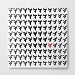 CUTE HEARTS PATTERN V Metal Print