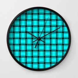 Cyan Weave Wall Clock