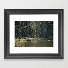 Mountain Pond Framed Art Print