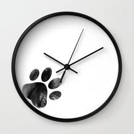 Cat's footprint Wall Clock