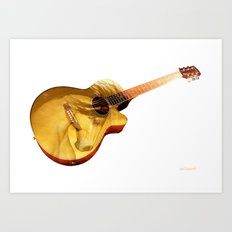 The guitar is a lady Art Print