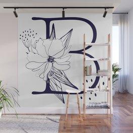 Alphabet Monograms-letter B Wall Mural