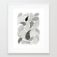 paisley Framed Art Prints featuring Paisley by Anita Ivancenko