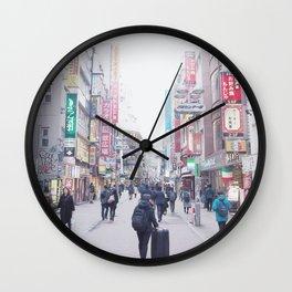 Girl in a Big Big World Wall Clock