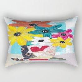 PATCHWORK VASE Rectangular Pillow