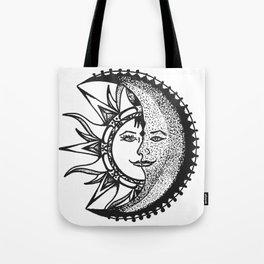 'El Sol Y La Luna' Sun and Moon Original Art, Space Wall Decor Tote Bag