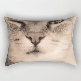 Wise Tabby Cat Rectangular Pillow