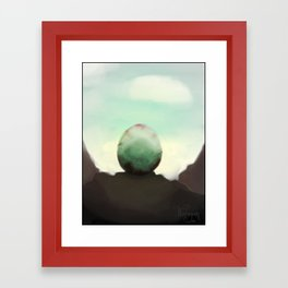 A strange eggs Framed Art Print