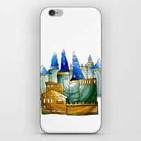 castle iPhone & iPod Skins featuring Castle by Irina  Mushkar'ova