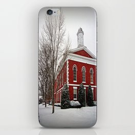 Iron County Courthouse in the Snow iPhone Skin