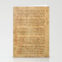 bible verses Stationery Cards featuring Asemic Script Verses by Lestaret