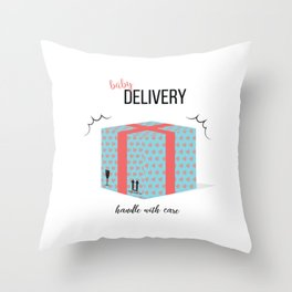 Baby delivery Throw Pillow