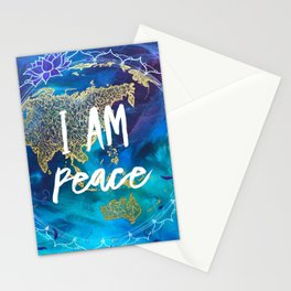 I am Peace Affirmation Quote Stationery Cards