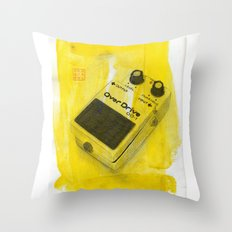 Overdrive Pedal Throw Pillow
