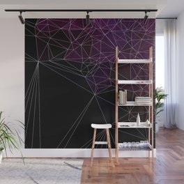Polygonal purple, black and white Wall Mural