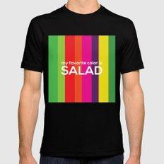 My favorite color is salad MEDIUM Mens Fitted Tee Black