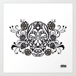 SKULL FLOWER 02 Art Print