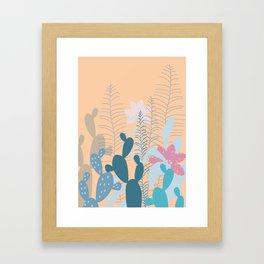 Blue Cacti Garden #Society6 #buyart #decor Framed Art Print