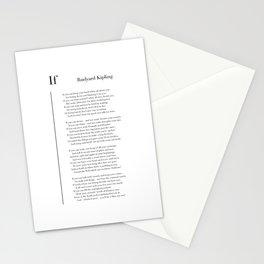 If by Rudyard Kipling Stationery Cards