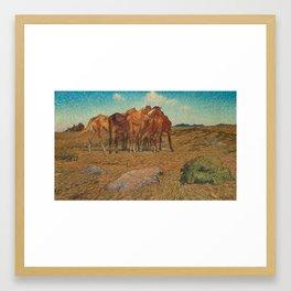 NILS KREUGER,  (A DROVE OF HORSES). Framed Art Print