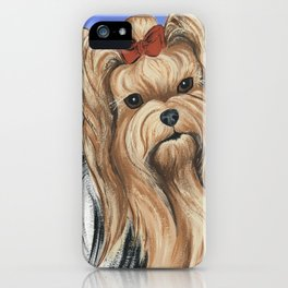 Yorkshire Terrier - Yorkie- by Nina Lyman of Dogs By Nina iPhone Case