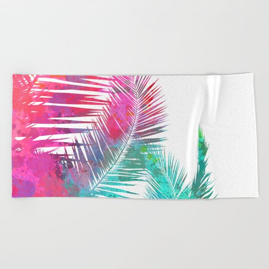 Palms Explosion Beach Towel
