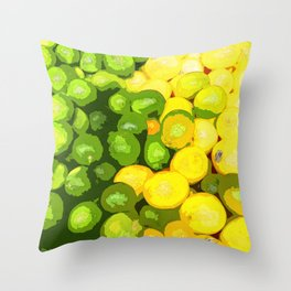 Lots of Green and Yellow Limes Throw Pillow