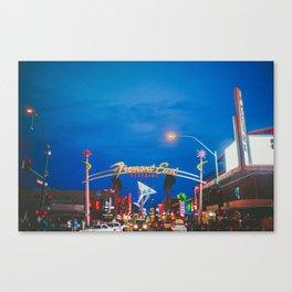 Las Vegas Fremont Street Downtown Canvas Print
